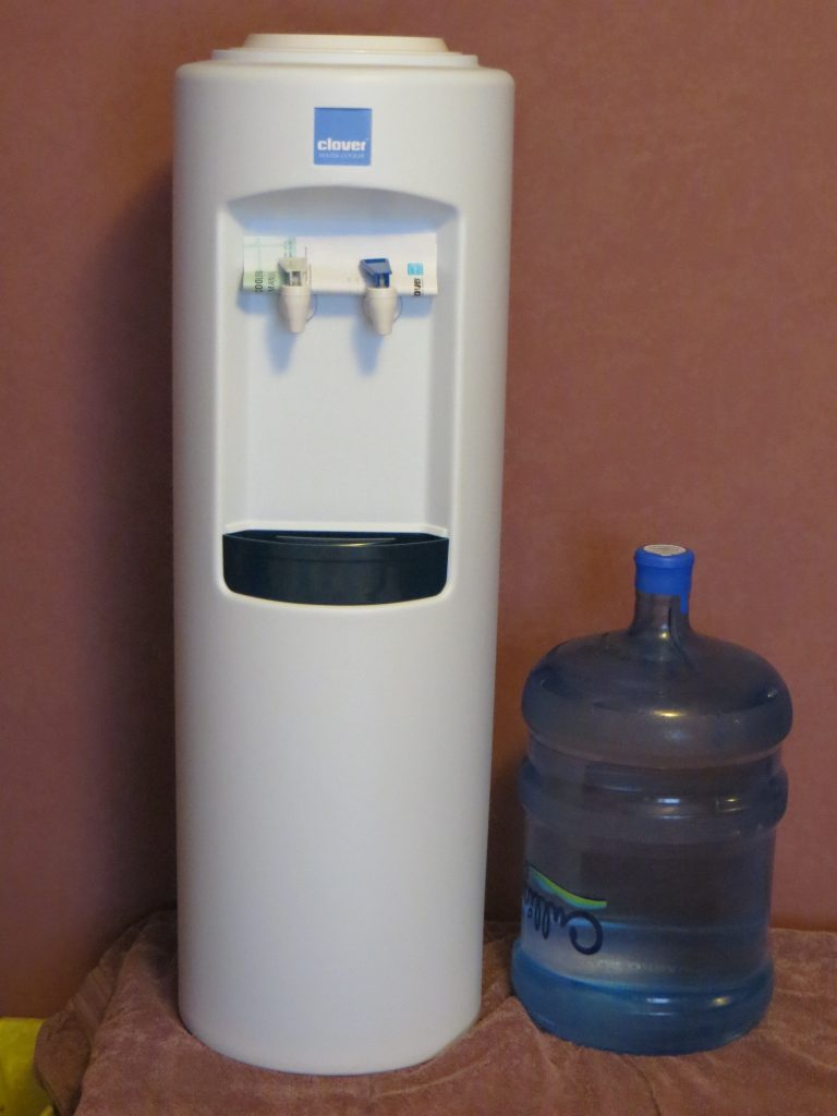 Culligan Bottled Water Despenser & 5 gallon water bottle by Mayer Soft Water