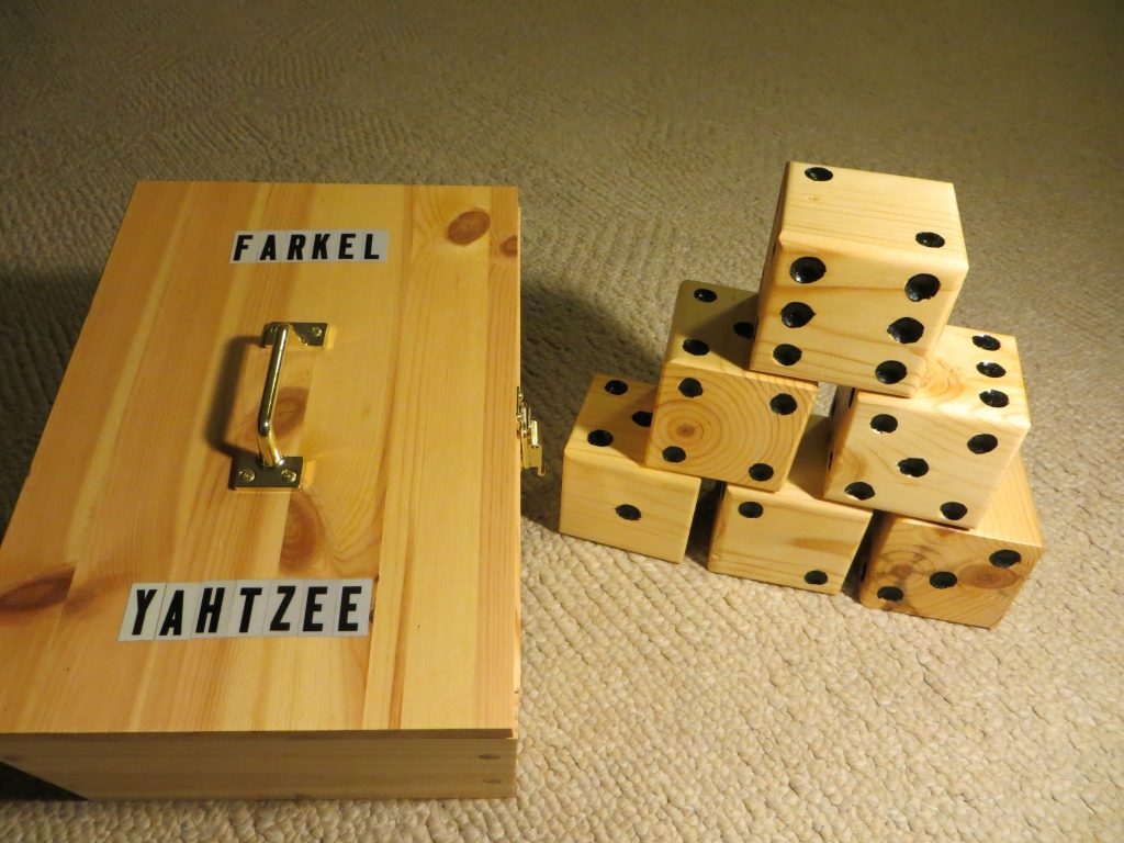 Farkel or Yahtzee Dice Yard Game