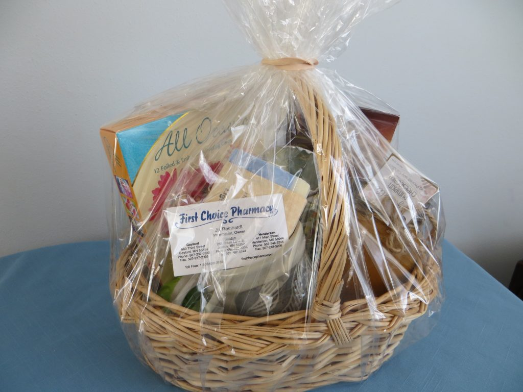 Gift Basket filled with fun items by First Choice Pharmacy