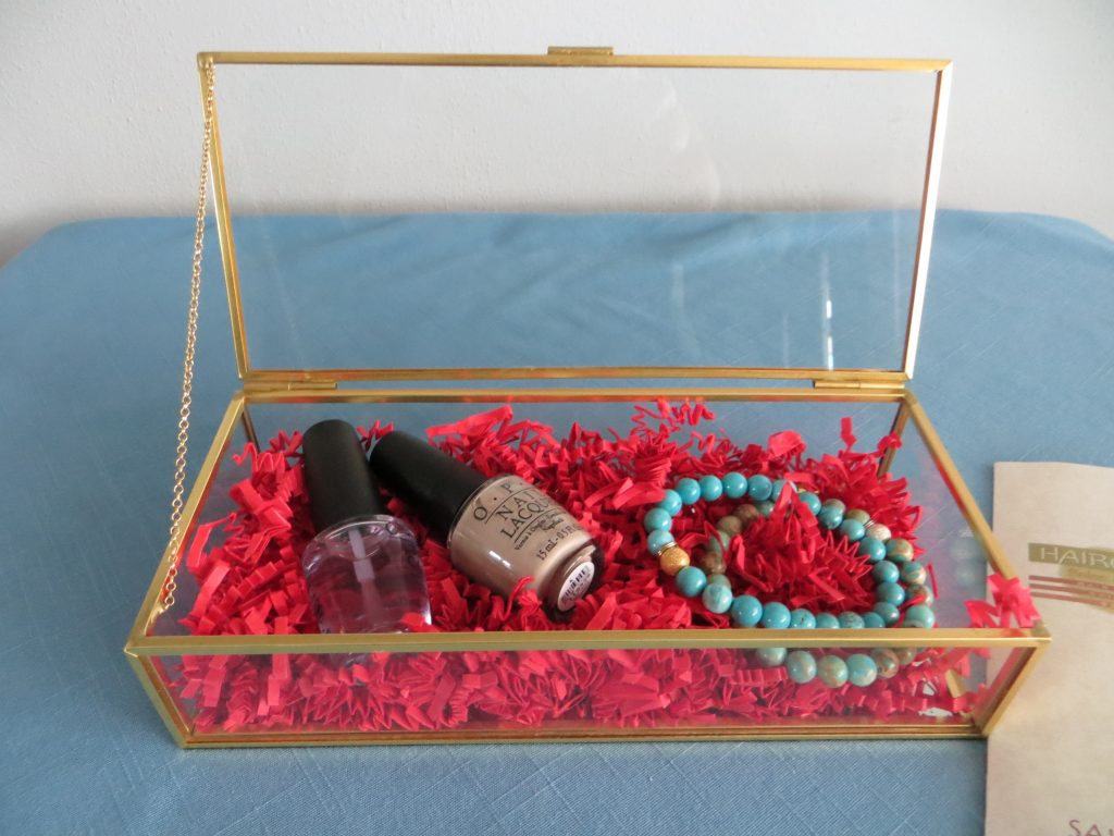 Glass Box with Bracelet & Nail Polish by Hairchitects Salon & Spa