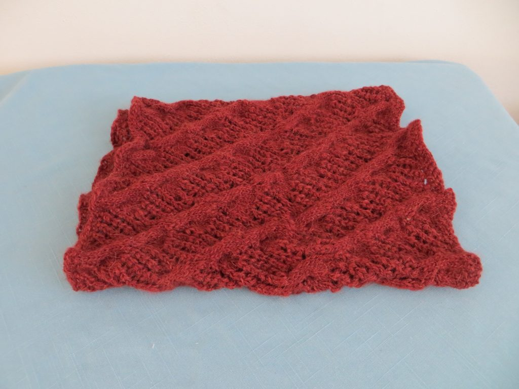 Hand Knit Wool:Acrylic Cowl by Janet Nordstrom