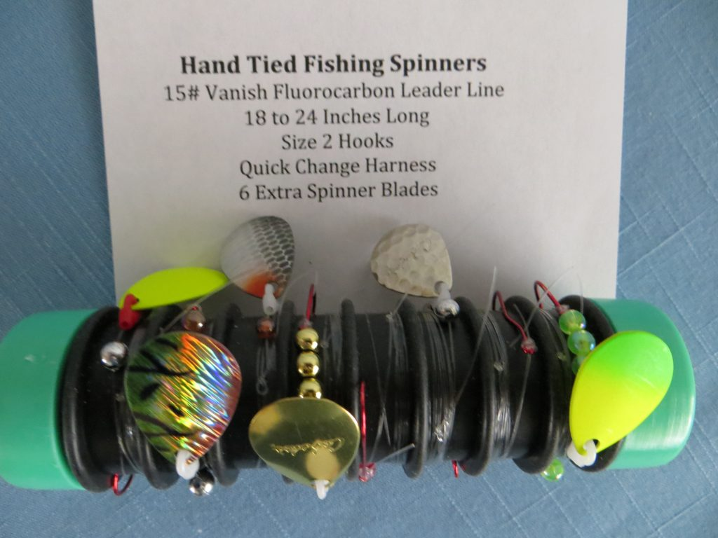 Hand Tied Fishing Spinners by Earl Gransee
