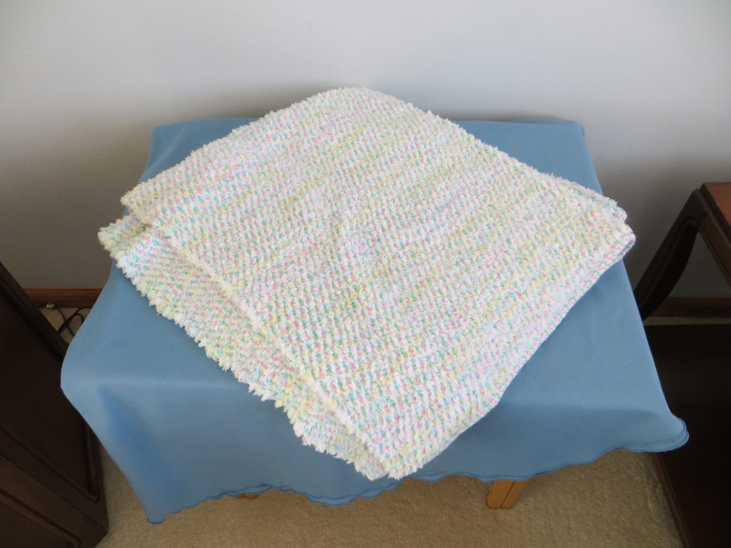Handwoven Acrylic Baby Banket by Janet Nordstrom
