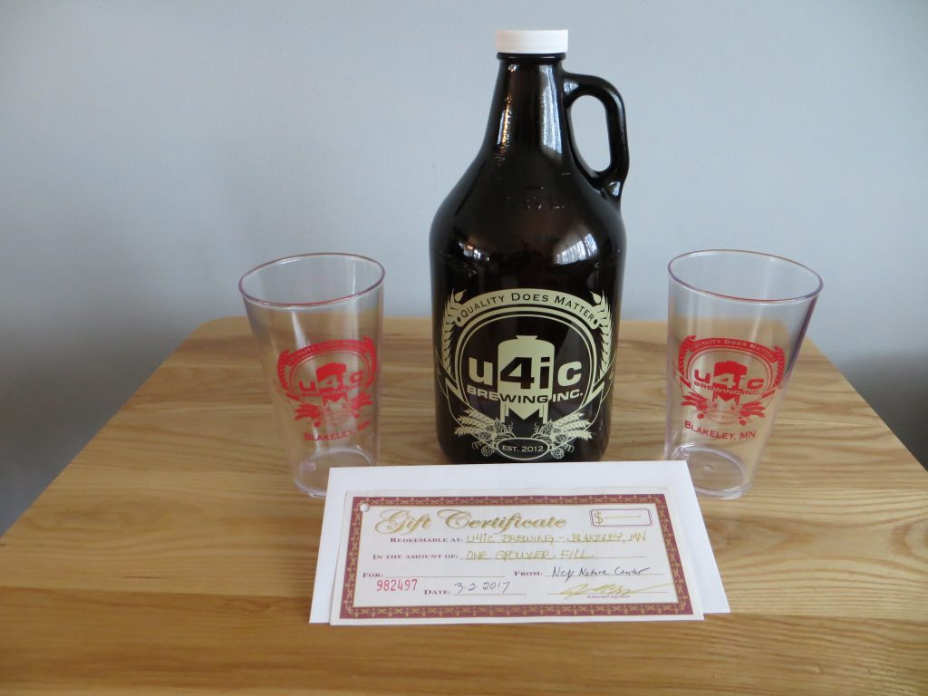 One u4ic Growler, 2 Glasses & Gift Certificate for one Growler Fill by u4ic Brewing, inc.