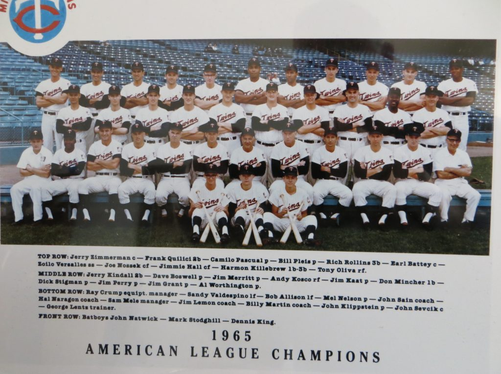 Photo of 1965 American League Champions (MN Twins) By Cornerstone Advisors