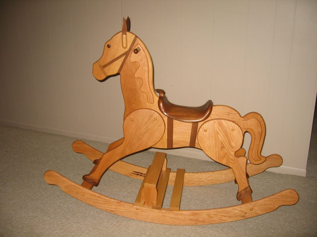 Rocking Horse #138 (Oak) Handcrafted by Ollie Heitkamp