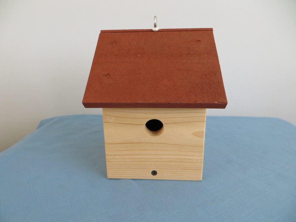 Small Birdhouse#2-Wren Size Hole by Byron Nordstrom